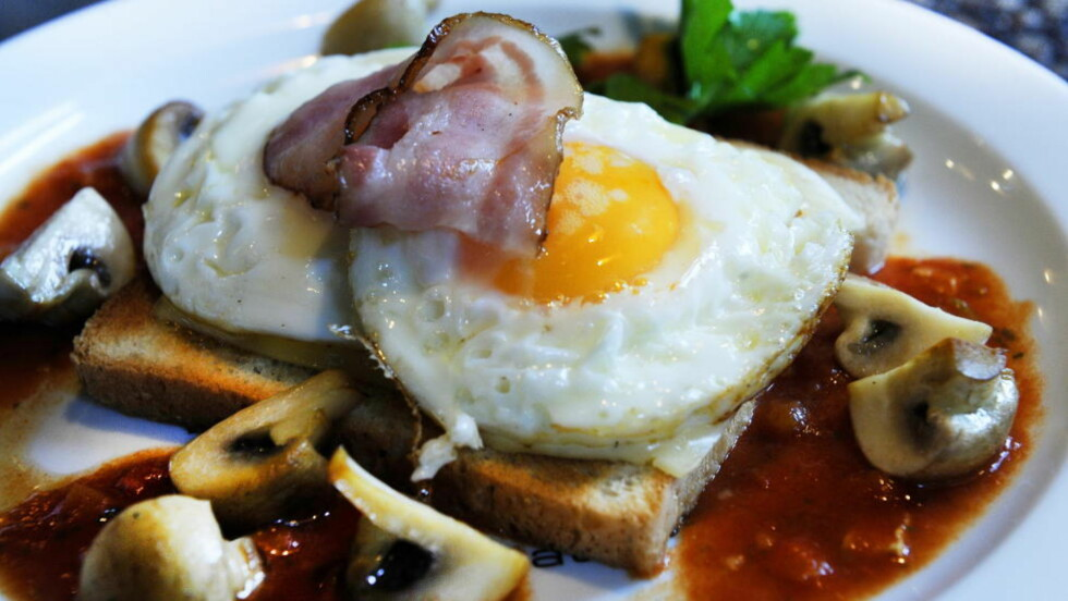 POPULÆRT: Egg og bacon på toast.  Foto: John T. Pedersen / Dagbladet