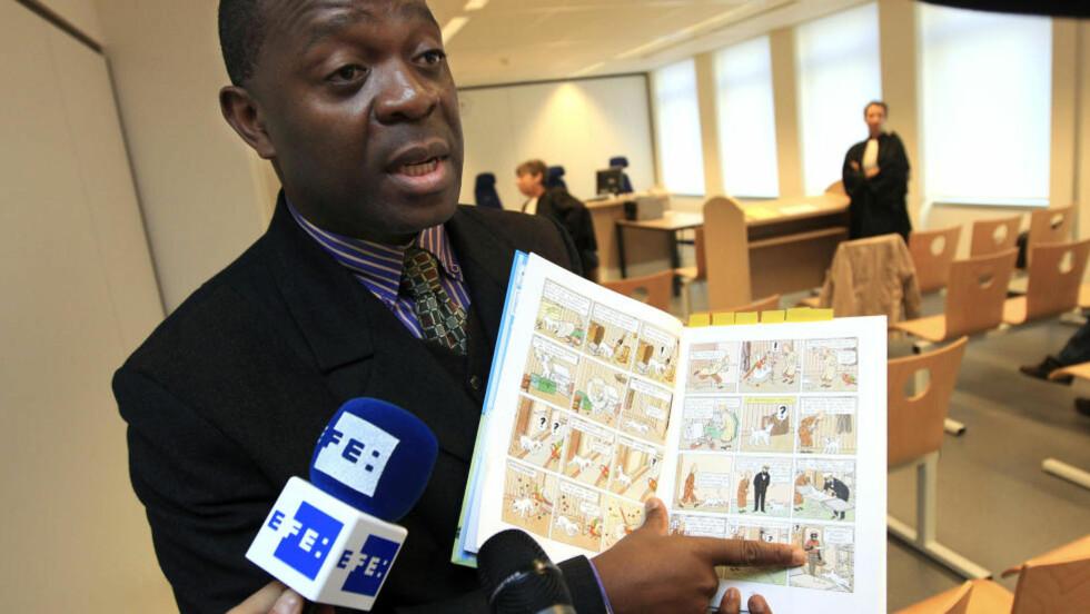 OMSTRIDT: «Tintin i Kongo» var oppe i en belgisk domstol i fjor, men ble renvasket da retten antok at skaperen Hergé skrev med sin samtids fremstillingsmåter, snarere enn med rasistiske motiver. Foto: AP Photo / Yves Logghe / NTB SCANPIX