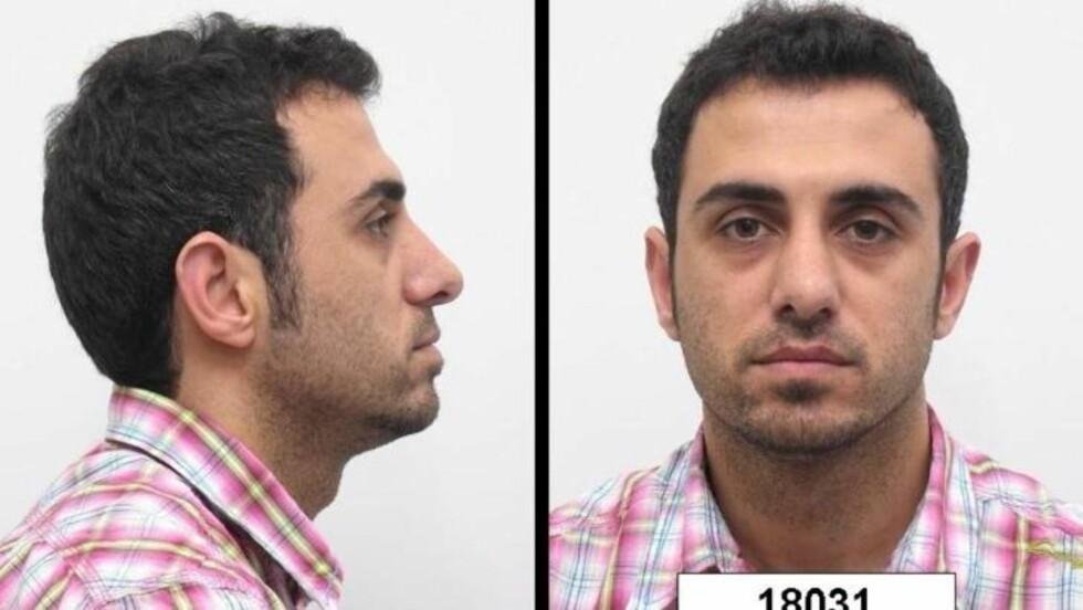 ETTERLYST FOR NARKOSMUGLING: Irakeren Arkan Musa Jaf (29) stod tiltalt for å ha innført og solgt til sammen 4,6 kilo heroin til Norge. I oktober 2008 rømte han fra Bergen tingrett, da han skulle ledsages ned i arrestlokalene under en pause. I februar 2009 ble 29-åringen dømt i sitt fravær til 9 års fengsel. Nå hevder han at han vil tilbake til Norge og sone straffen.