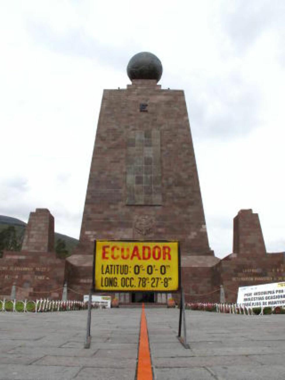 TURISTMAGNET: Ekvatorparken eies av Pichincha-provinsen, og besøkes av en halv million turister i året. Foto: MILAN81/CREATIVE COMMONS