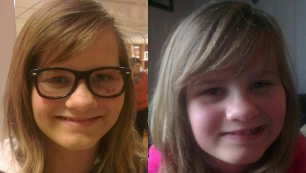 LAMMET I ANSIKTET: Caroline Buer (12) ble lam i halve ansiktet etter HPV-vaksinen hun tok på barneskolen for drøye to uker siden. Bildet til høyre viser hvordan Caroline nå kun har førlighet i venstre del av ansiktet. Foto: Privat