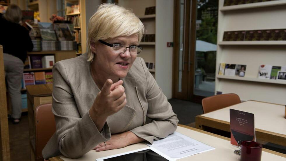 - STRYKER:Kunnskapsminister Kristin Halvorsen (SV) stryker i praktisk gjennomføring, mener Høyre. Foto: Øistein Norum Monsen / DAGBLADET