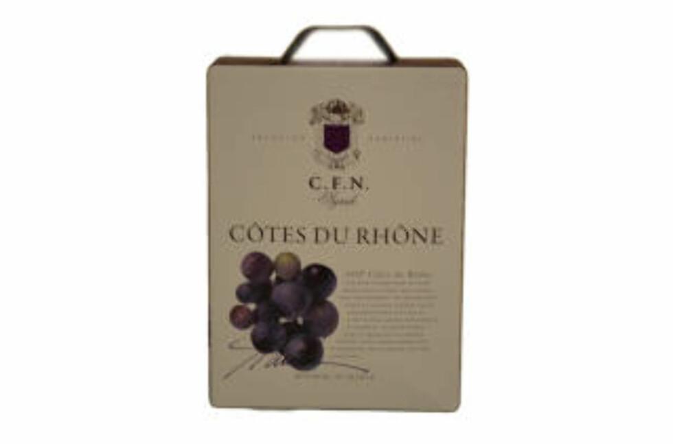 KLASSISK FIN SYRAH: C.F.N. Côtes du Rhône Syrah 2011, fyldig smak med bløte tanniner og god frukt.