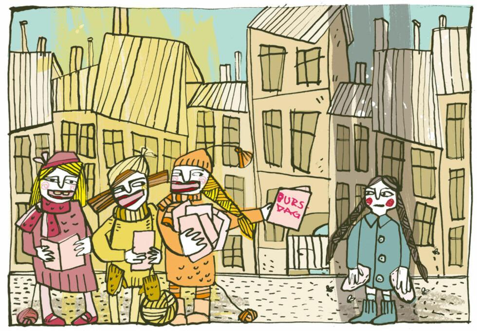 Tegning: Gunnlaug Moen.