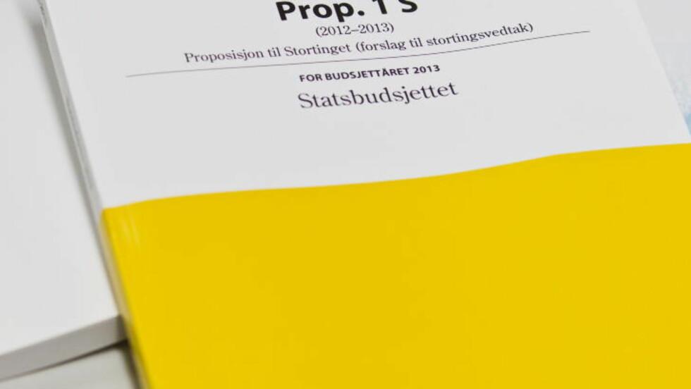 LAGT FRAM I DAG: Statsbudsjettet for 2013. Foto: Vegard Grøtt / NTB scanpix