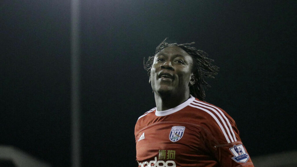 WOLVERHAMPTON-AKTUELL: Tidligere West Bromwich Albion-spiller Somen Tchoyi. Foto: SCANPIX/AP/Matt Dunham