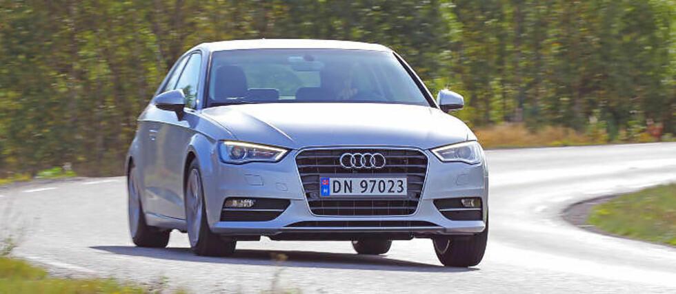 ÅRETS BIL 2013? Kompaktbiler med noe ekstra ved seg, som Audi A3 (Bil 1), er en voksende nisje i Norge. Alle foto: Egil Nordlien, HM Foto, Vi Menn Bil-redaksjonen og produsenter