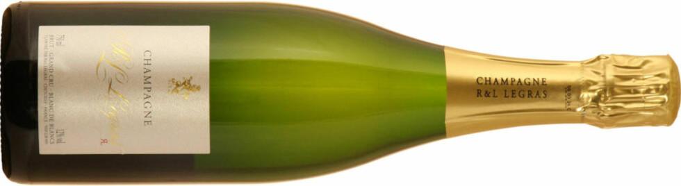 CHAMPAGNE: En luksusråvare som norsk hummer krever perfekt vin, og Legras blanc de blancs er et godt valg.