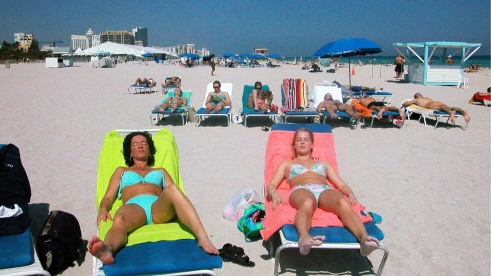 CRUISE: Blant cruisepassasjerer er det populært i tilbringe noen dager ekstra i Miami. Miami Beach er ikke noe dårlig valg. Foto: EIVIND PEDERSEN