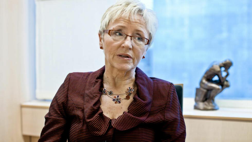 VIL BEKLAGE: Sp-leder Liv Signe Navarsete sier hun vil beklage overfor Sandra Borch. Foto: Krister Sørbø/NTB Scanpix