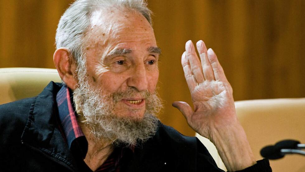 I GOD FORM: Fidel Castro. Dette bildet er tatt 10. februar i år på en internasjonal bokfestival i Havana. Foto: Cubadebate / Roberto Chile / AP Photo
