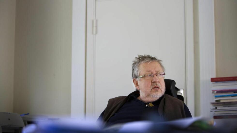-FLERE GJERNINGSMENN:  Politiprofessor Leif GW Persson tror drapet på statsminister Olof Palme blir oppklart. -Jeg tror det var en konspirasjon og at det der flere gjerningsmenn, sier Persson.  Foto: Jonas Lemberg / Dagbladet