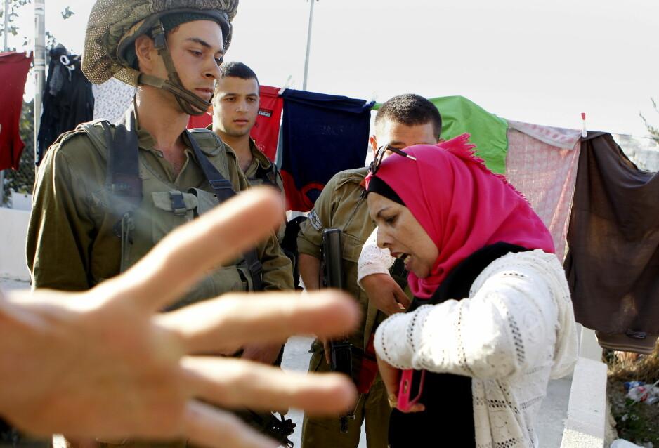 VESTBREDDEN: Israelske myndigheter mener at Facebook og YouTube bidrar til spredning av palestinsk vold på Vestbredden. Foto: NTB Scanpix