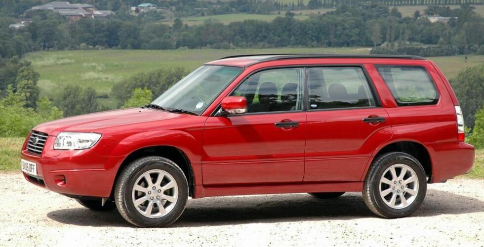 BEST: Bare 8,7 prosent av Subaru Forester (2003-2005) har større feil og det er først og fremst enkle punkter rundt lys og elektrisk anlegg. Foto: Subaru
