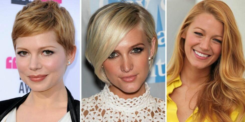 POPULÆRT HÅR: Disse tre hårklippene er blant verdens mest populære frisyrer. FOTO: Stella Pictures