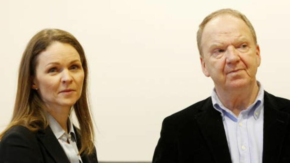 2011: Rettspsykiaterne Synne Sørheim og Torgeir Husby før Faiza-saken startet i Asker og Bærum tingrett.  Foto: Håkon Mosvold Larsen / NTB Scanpix