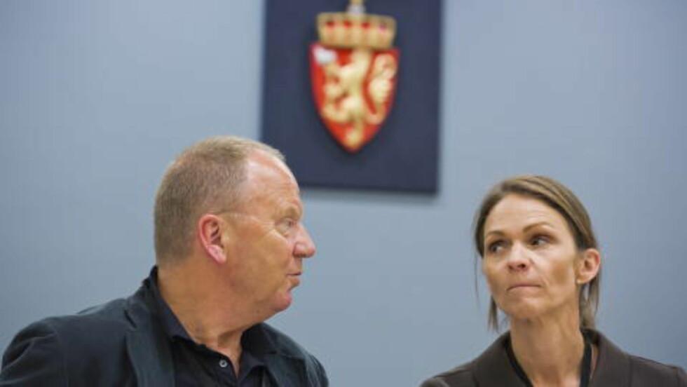 2012: Rettspsykiaterne Torgeir Husby og Synne Sørheim i rettssal 250 i niende uke av saken mot Anders Behring Breivik.  Foto: Heiko Junge / NTB Scanpix