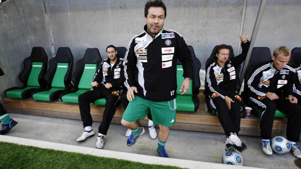 TUNGE TIDER: HamKam-trener Vegard Skogheim. Klubben er i alvorlige økonomiske problemer.  Arkivfoto: Cornelius Poppe / Scanpix