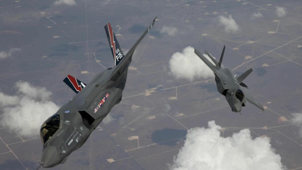 GIGANTISK KONTRAKT: Forsvarsministeren melder nå at USA vil ha Kongsberg Gruppens missil JSM i F-35-kampflyene. Salgspotensialet for våpensystemet er anslått til 20-25 milliarder kroner. Foto: REUTERS/SCANPIX
