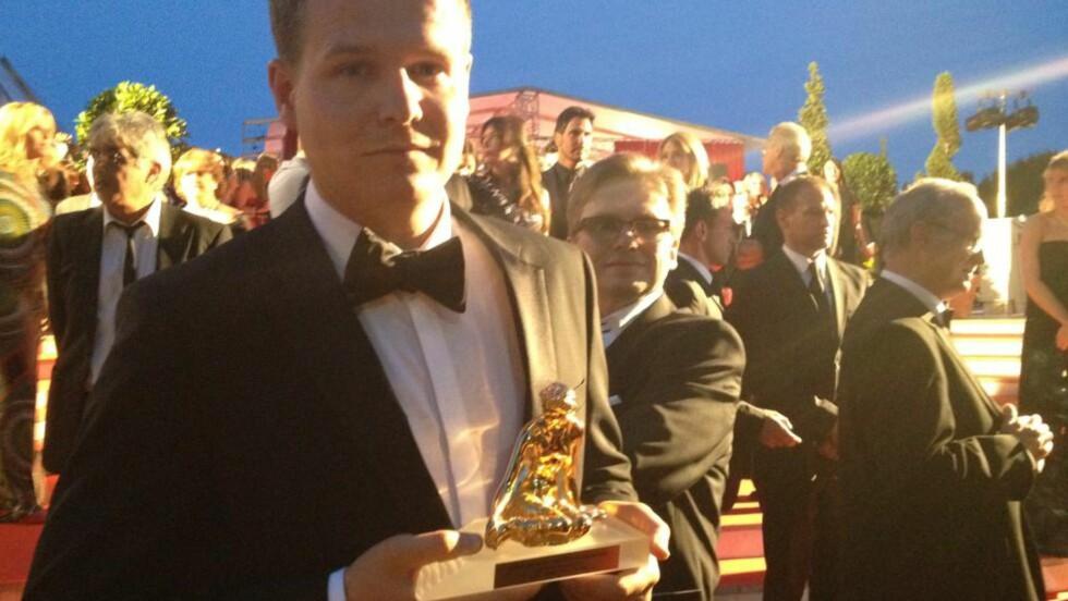GULLGUTT: Tommy Gulliksen vant tidligere i år Gullruten for Utøya-dokumentaren «En liten øy i verden». I går vant han den den prestisjetunge prisen Gullnymfen for samme dokumentar i Monte Carlo. Foto: Privat