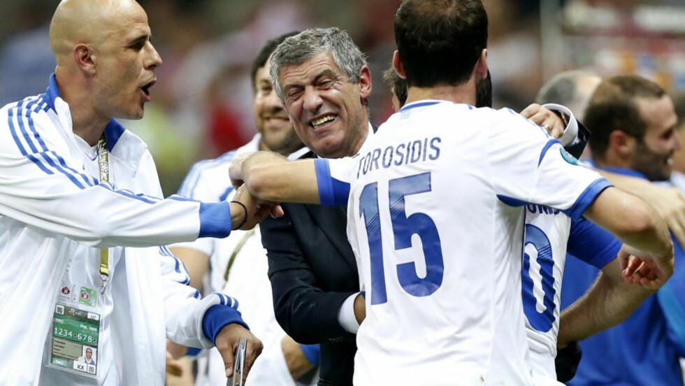GRESK ADVARSEL: Klart for et tristere EM med Hellas fortsatt på banen. FOTO: AP/Matt Dunham.