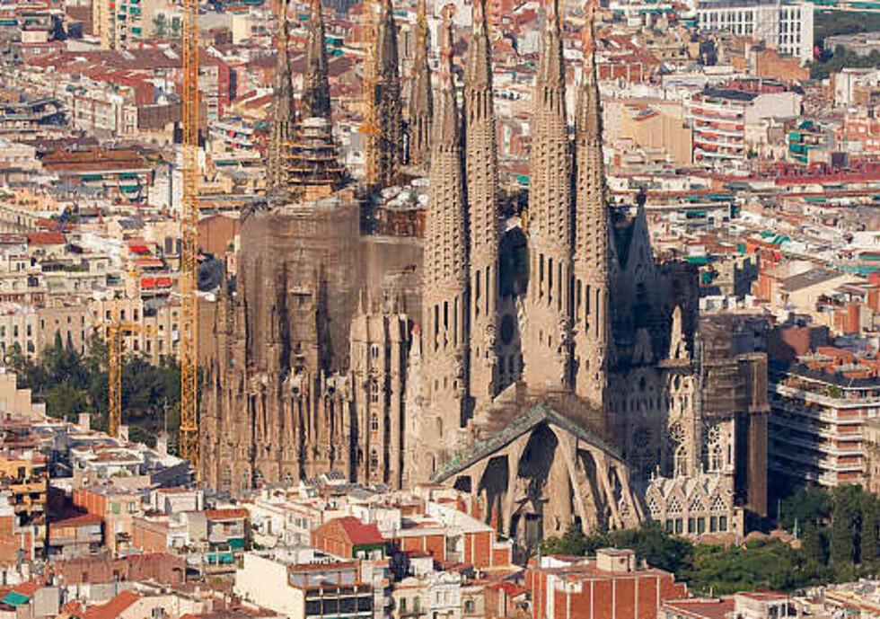 UFERDIG: Gaudis mesterverk, La Sagrada Familia i Barcelona, er fortsatt under konstruksjon. Foto: Thinkstock