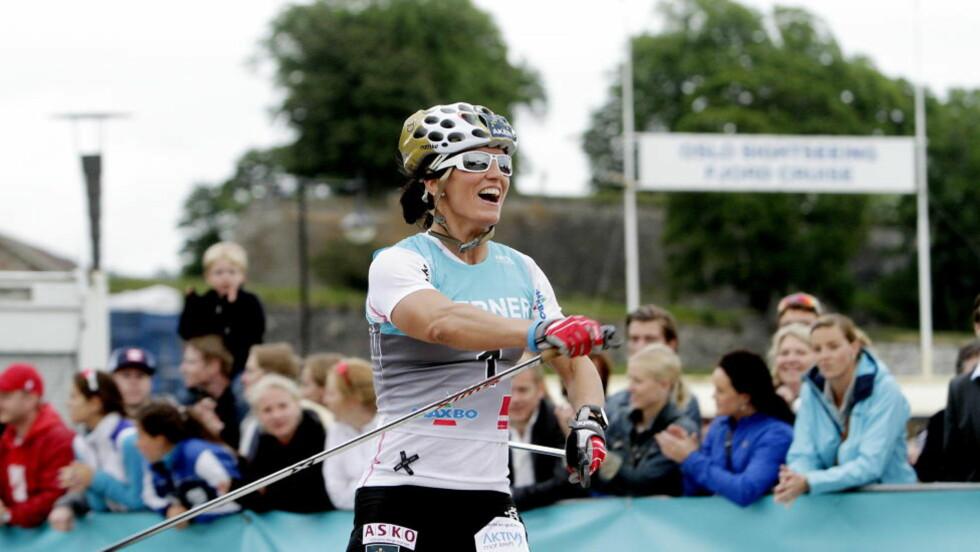 VANT I AURE:Marit Bjørgen vant fellesstarten under Toppidrettsveka. Hun slo blant annet Heidi Weng. Dette bildet er fra Oslo skishow nylig. Foto: Stian Lysberg Solum / NTB scanpix