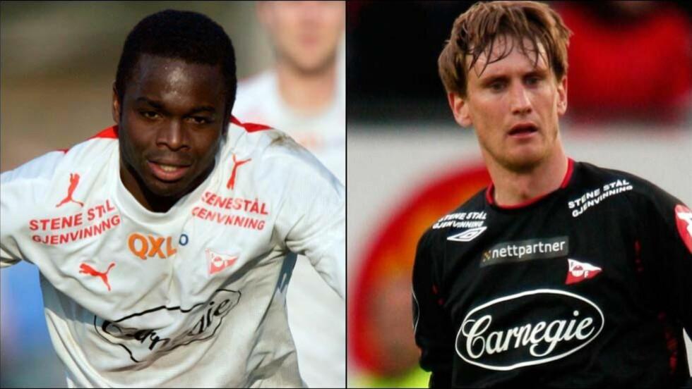 TILTALT: De to tidligere Fredrikstad-spillerne Brian West (t.v.) og Raio Piiroja er tiltalt for skatteunndragelse. Foto: NTB scanpix