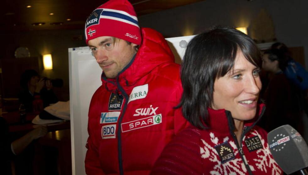 IKKE BRUKT SKISELECTOR: Petter Northug og Marit Bjørgen har vunnet mye de siste åra, men smøresjef Knut Nystad sier de aldri har valgt skipar basert på resultater fra Skiselector. Foto: Terje Bendiksby / Scanpix