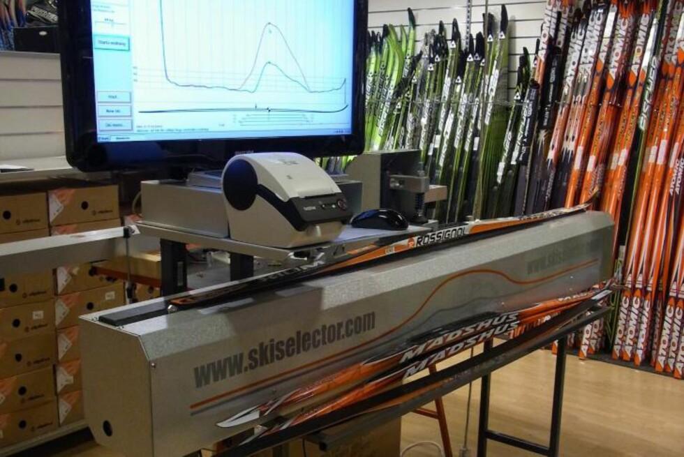 SLIK SER MASKINEN UT: Dette er Skiselector, som har skapt bråk mellom et svensk firma og Olympiatoppen. Foto: Vendolocus Development