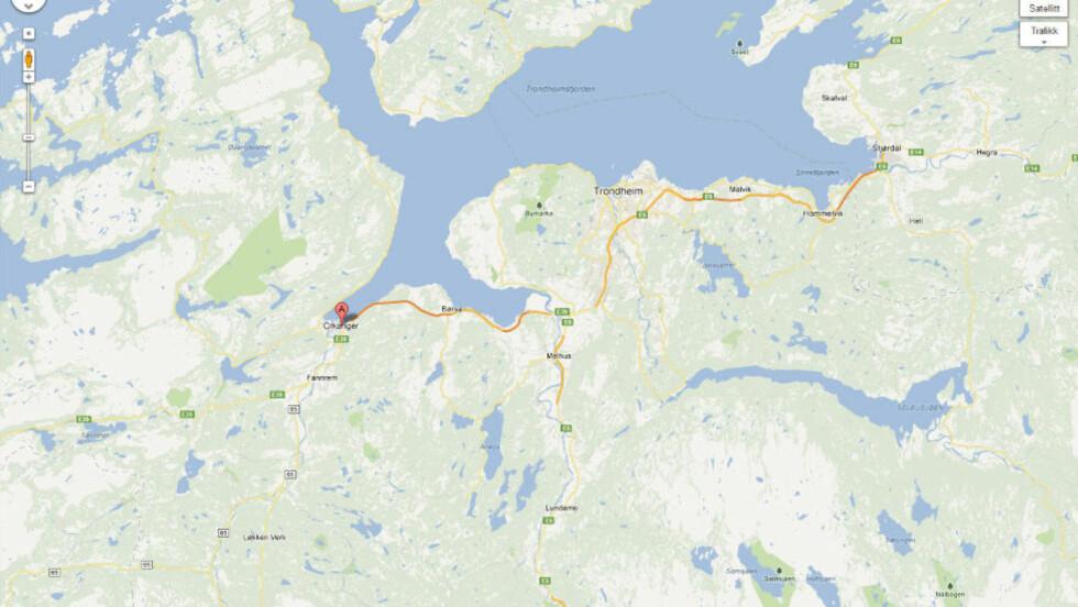 DØDSBRANN: En person omkom etter en brann i en tomannsbolig i Orkanger i morges.