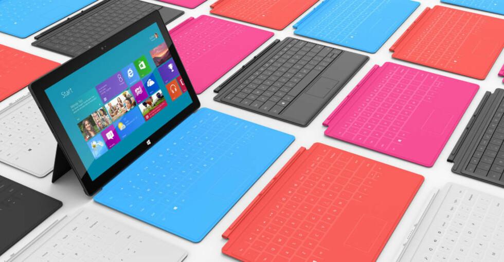 PÅ ETT BRETT: Microsoft har ikke råd til å feile med Surface, selskapets store satsing i det Apple-dominerte markedet for nettbrett. Foto: Microsoft