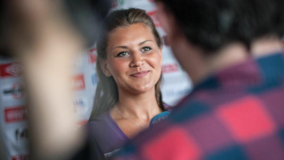 TIL OL: Amanda Kurtovic strålte da den norske OL-troppen ble presentert.  Foto: Audun Braastad / NTB scanpix