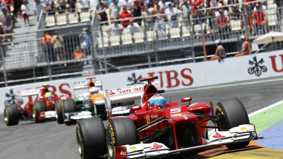 VANT PÅ HJEMMEBANE: Ferraris Fernando Alonso. Foto: SCANPIX/AP/ Alberto Saiz