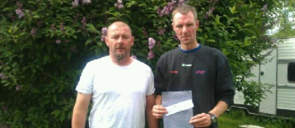 MØTTES: Ken-Ivar Myrvold (t.v) fikk Tom Rune Hansen sine kredittopplysninger i posten.