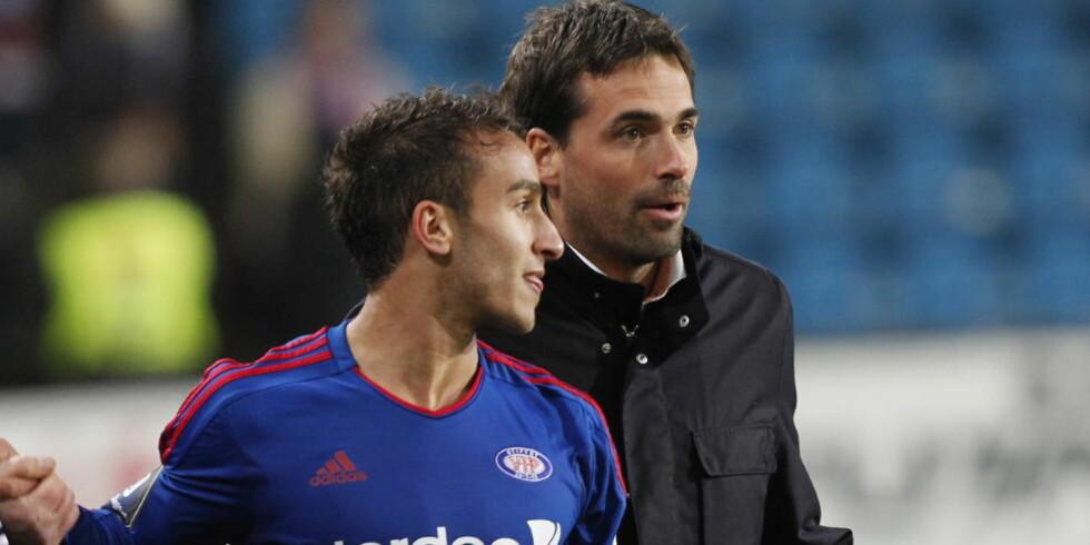 VIL STARTE: Mohammed Fellah mener media gir Martin Andresen skylda for spillernes feil. Men teknikeren er fortsatt uenig i sjefens avgjørelse om å benke ham. Foto: Terje Bendiksby / NTB scanpix