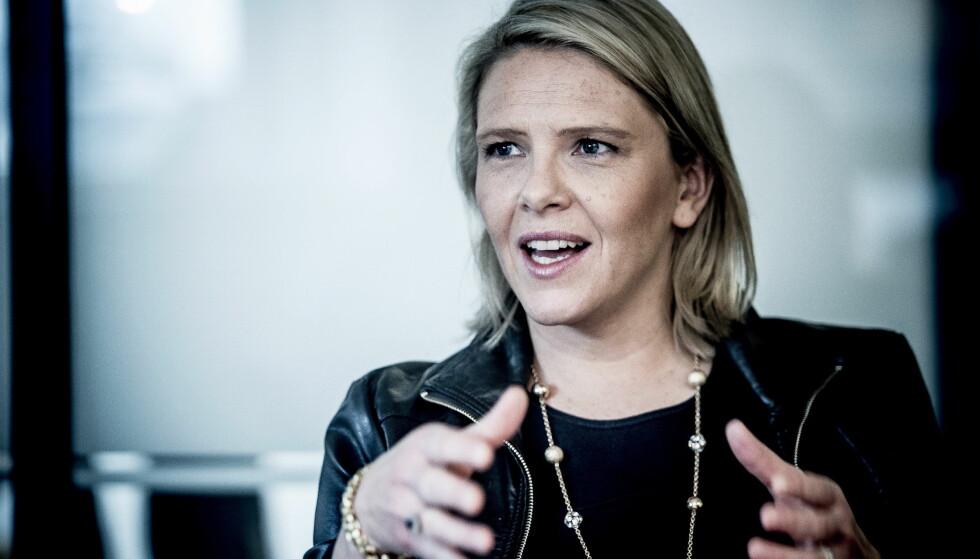 GRAVID: På nyåret blir Sylvi Listhaug trebarnsmor. Til Se og Hør forteller hun at hun planlegger å være hjemme i tre til fire måneder etter fødselen. Foto: Thomas Rasmus Skaug / Dagbladet