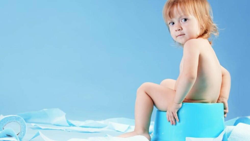 BLEIESLUTT: Sommeren er en fin tid for pottetrening. colorbox