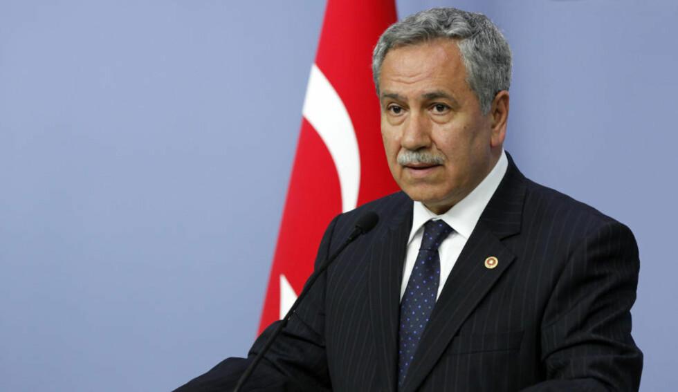 LANGER UT: Tyrkias visestatsminister, Bulent Arinc, mener syrias handlinger er fiendtlige. Foto: Reuters
