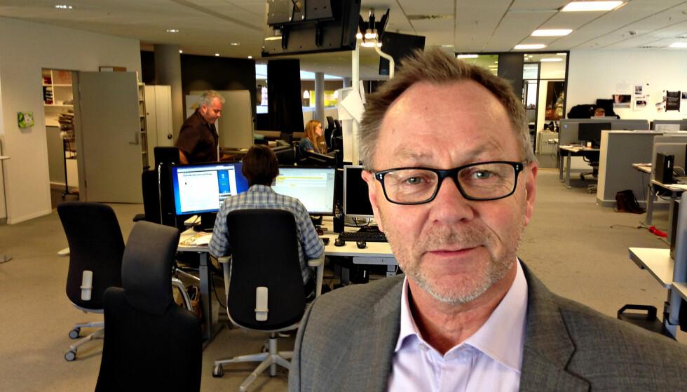 STABILT: - Veksten på digitale plattformer er tilsvarende det vi taper på papir. Mobiltelefonen er i dag vår viktigste plattform, sier sjefredaktør John Arne Markussen.