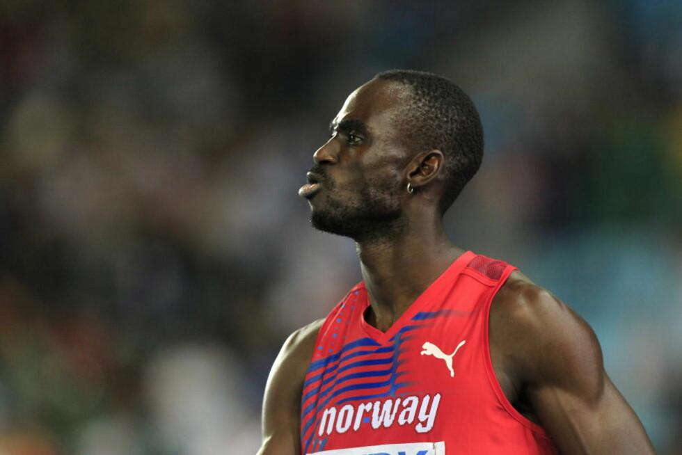 VANT HEATET: Jaysuma Saidy Ndure vant sitt forsøksheat på tida 10,24 uten at det så ut til å koste spesielt mye.Foto: Cornelius Poppe / SCANPIX