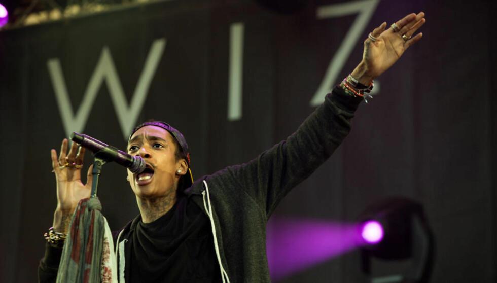 PÅ HOVE: Wiz Khalifa. Foto: Anders Grønneberg/ Dagbladet