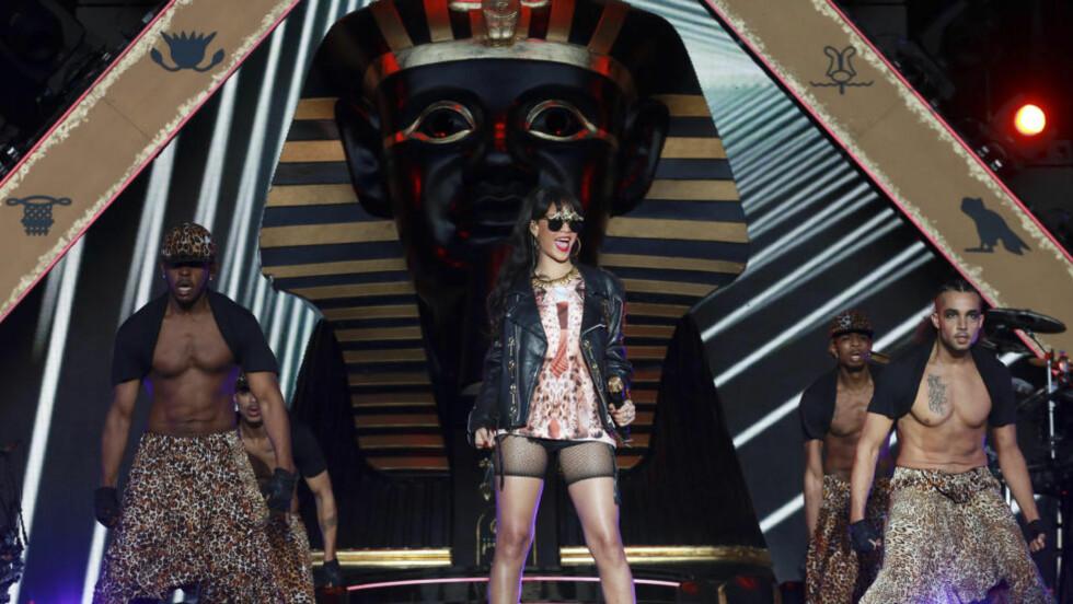 Farao i furua: Rihanna kommer til Norge og Holmenkollen med et enormt sceneshow inspirert av oldtidens Egypt. Foto: Scanpix