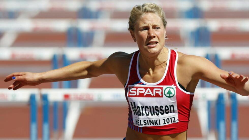 GODT I GANG: Ida Marcussen fikk en god start på sjukampen under EM i Helsinki. Foto: Lise Åserud / NTB scanpix