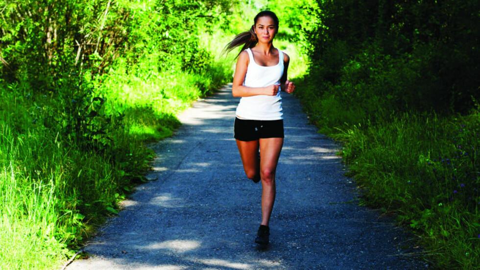 MOTIVERT: Som nybegynner vil du raskt se forbedring i utholdenheten. Varierte løperuter gir ekstra motivasjon til å yte maks. Foto: Colourbox