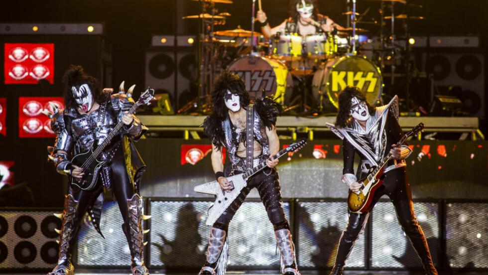 MYE FOR ØYET: Kiss leverte det de lovet, et fargesprakende show og en hitparade få andre hardrockere kan skilte med.Foto: Sondre Steen Holvik / Dagbladet