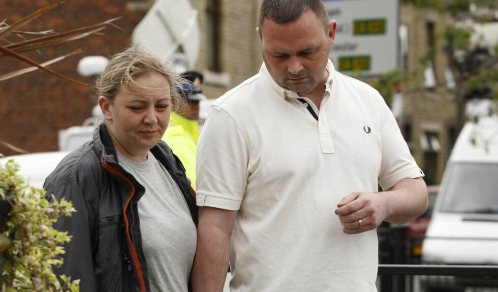 KLANDRET SEG SJØL:  Michelle Heaton var sikker på at hennes sigarettbruk var årsaken til at huset eksploderte og sønnen døde. Flere hus ble skadet i den tragiske eksplosjonen i tillegg til at en person ble fraktet til sjukehus med brannskader. Foto: PA / NTB Scanpix