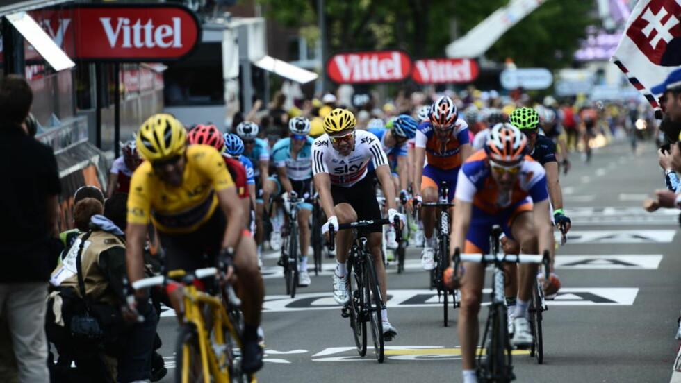 LITT FOR TØFT: Edvald Boasson Hagen måtte bruke så mye krefter på å ta inn Fabian Cancellara og vinner Peter Sagan i den siste bakken, at han ikke hadde noe særlig igjen å spurte med. Foto: Thomas Rasmus Skaug/Dagbladet