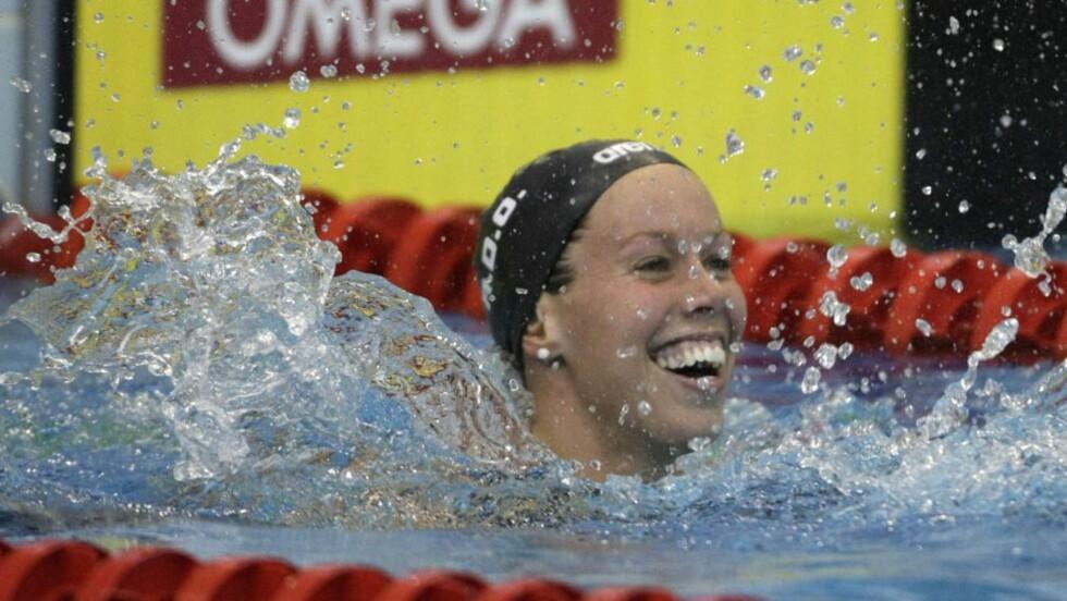 SKADD: Svømmeren Ingvild Snildal fikk skulderen ut av ledd forrige fredag. 23-åringen frykter likevel ikke at det skal hindre henne i London-OL. Foto: AFP Photo / FerenC Isza / NTB Scanpix