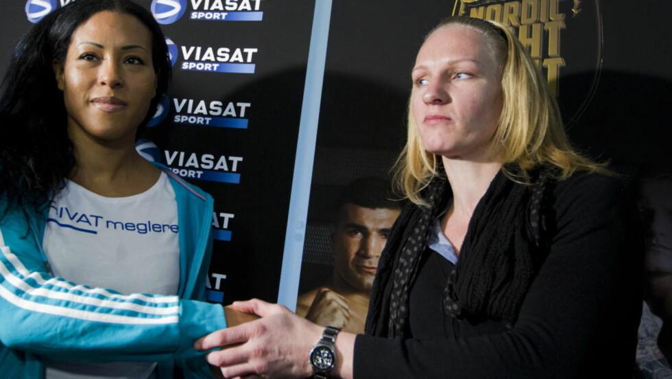 MØTER KNOCKOUTSPESIALIST: Cecilia Brækhus (30) møter den franske knockoutspesialisten Anne-Sophie Mathis (35) i Frederikshavn 22. september.  Foto: Berit Roald / Scanpix